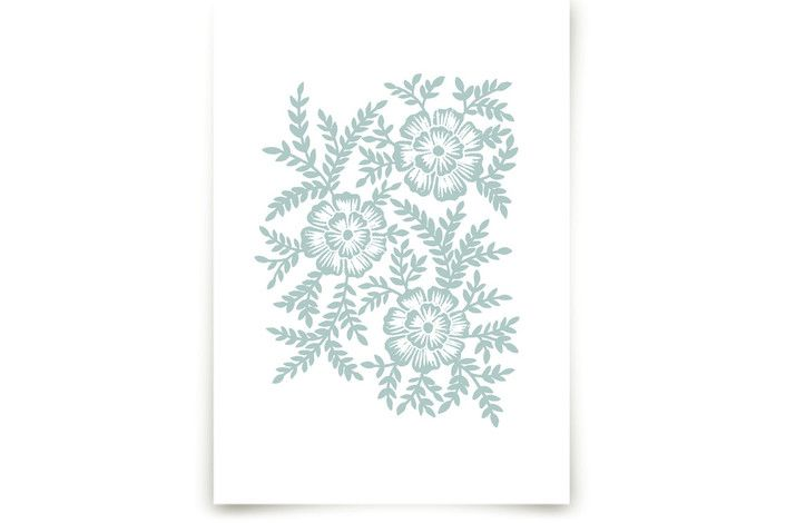 Monochrome Floral  by Katharine Watson at minted.com