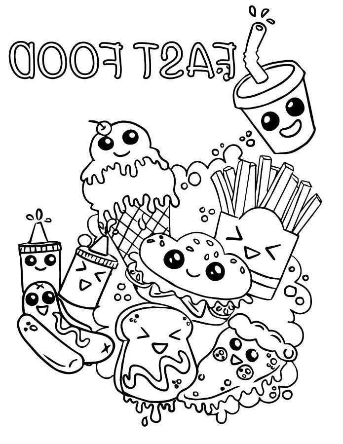 10 Beau De Coloriage De Nourriture Image En 2020 Coloriage Emoji Coloriage Kawaii Dessin Kawaii A Imprimer
