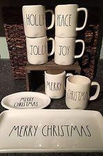 Rae Dunn Christmas 8PC Merry Christmas, Holly Jolly Peace Joy Oval & Platter Set
