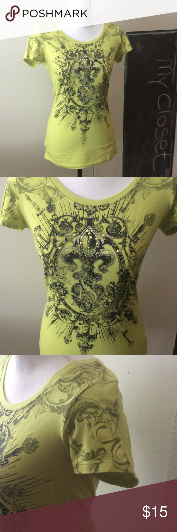 """Lime Green 'SouthPole"""" T-Shirt Great neckline on this super sexy """"SouthPole"""" T-Shirt. Very flattering. Awesome lime green color. In great condition, like new South Pole Tops Tees - Short Sleeve"""