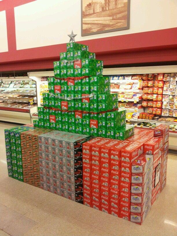 Coca-Cola Christmas tree display in Bloomington, IN