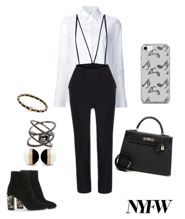 """""""Untitled #367"""" by xio24 on Polyvore featuring Misha Nonoo, Hermès, Eva Fehren and Music Notes"""