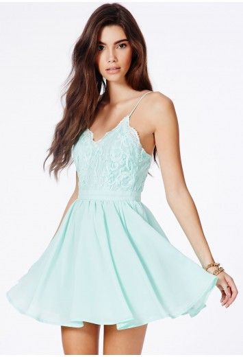 Strappy lace prom dress