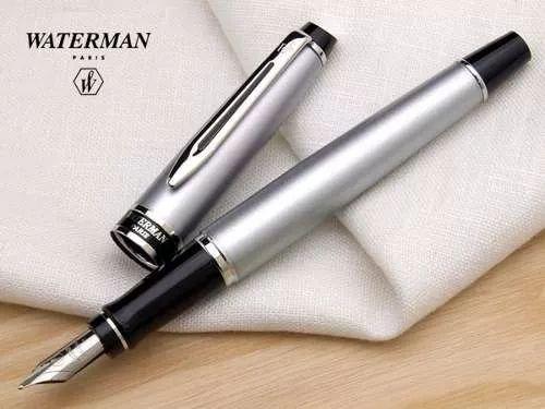 caneta tinteiro waterman expert i i - crome ct - pena média