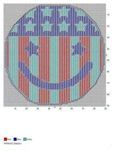 Patriotic smiley