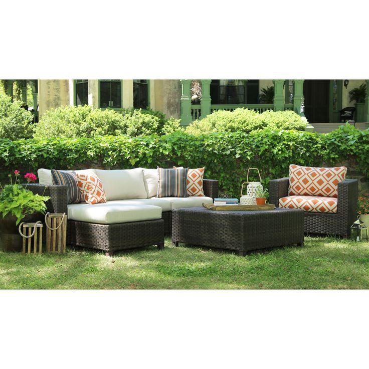 AE Outdoor Biscayne 4 Piece Deep Seating Conversation Set | From  Hayneedle.com · Furniture DecorOutdoor FurnitureSunbrella ...