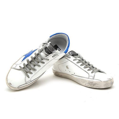 Golden Goose 17 F/W Men's LowTop Superstar Sneakers BLUE FLUO STAR G31MS590 C75 #GoldenGoose #FashionSneakers