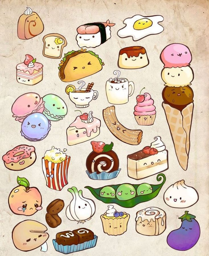 Super Fun And Adorable Doodles These Simple Food Drawings Are So