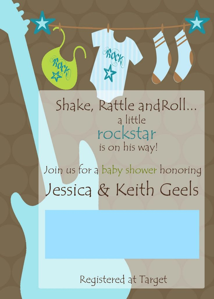 85 best Rock Star Baby Shower images on Pinterest   Birthday party ...