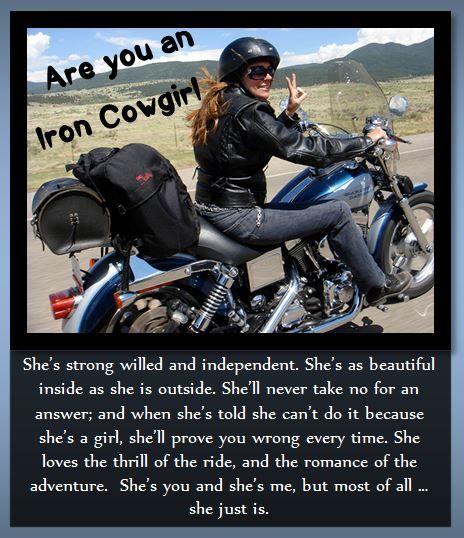 We love iron cowgirls! Shoreline Harley-Davidson  www.shorelinehd.com