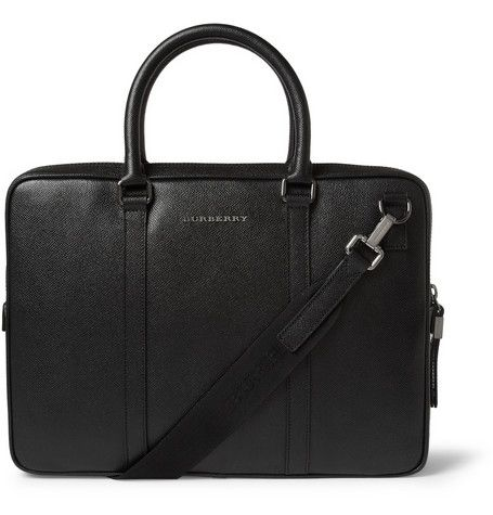 Burberry Shoes & Accessories - Full-Grain Leather Briefcase | MR PORTER