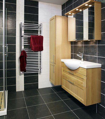 Отличным решением для вашей ванной может стать небольшой деревянный шкафчик в углу комнаты. В него можно положить полотенца, косметику и остальные предметы, которыми вы часто пользуетесь в своей уборной. Более того, сочетание остальной мебели с этим шкафчиком сделают ванную более богатой и разнообразной. http://santehnika-tut.ru/mebel-dlya-vannoj/mebel-iz-mdf/  #дизайн #интерьер #стиль #ванная #сантехника #плитка