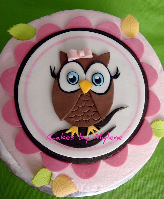 Cake idea for Abby, except a cute Turkey instead of an Owl   Owl Cake - Dinner Menu Images For Websites
