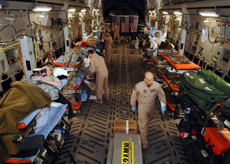 Medevac mission, Balad Air Base, Iraq Boeing C17
