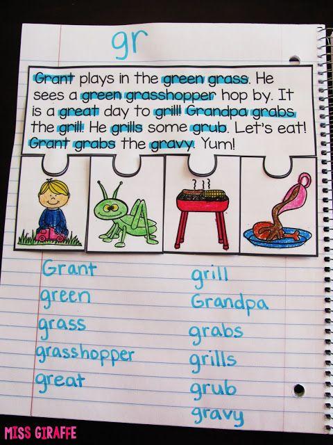 Miss Giraffe's Class: Phonics Fluency Notebooks