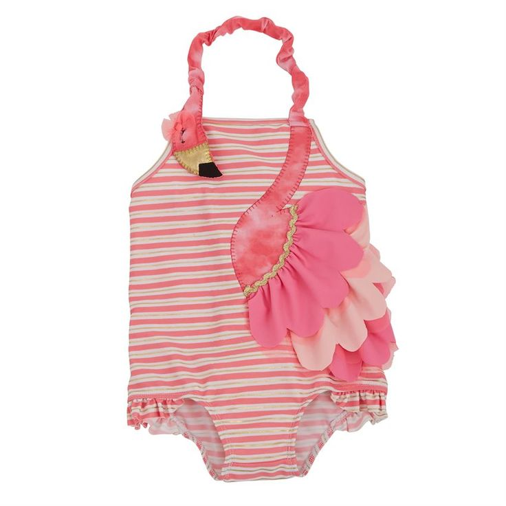 Mud Pie | Flamingo Ruffle Swimsuit