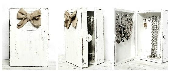 Cassetta riciclata come porta gioie