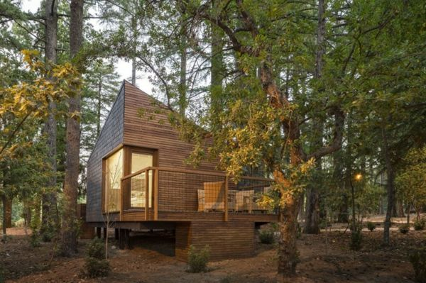 la maison en bois style chalet futuriste dans la foret habitat ecologique pinterest dans. Black Bedroom Furniture Sets. Home Design Ideas