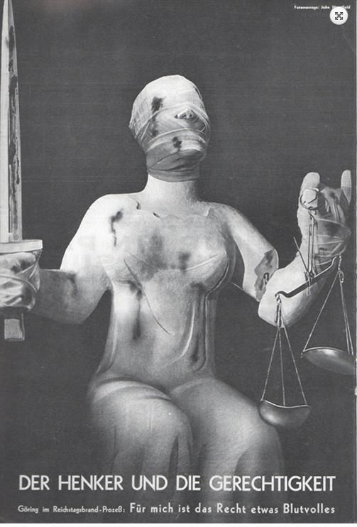 The disturbing images of John Heartfield who jumped from a window to escape Nazis via @tonyplcc
