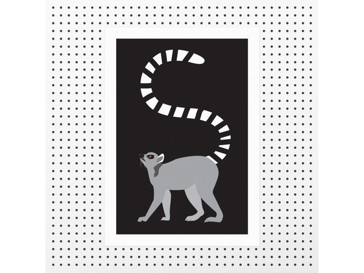 Poster - LEMUR A3, original graphic