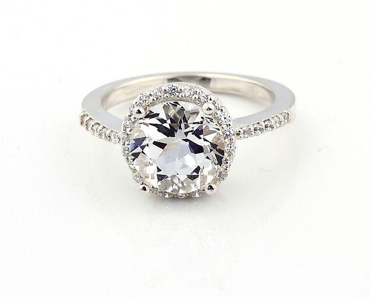 White Topaz Wedding Rings