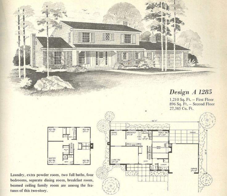 vintage house plans farmhouses