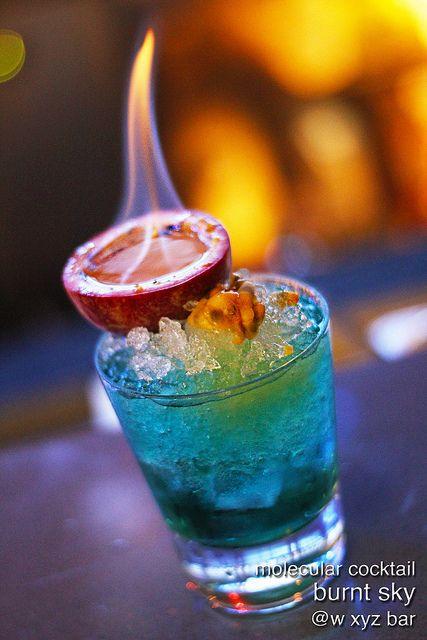 burnt sky - molecular cocktail @ w xyz bar at Aloft Bangkok