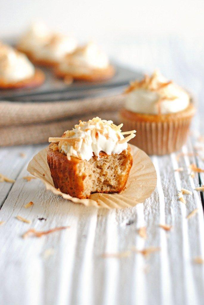 Protein Coconut Cupcakes  // Healthy High Protein Dessert
