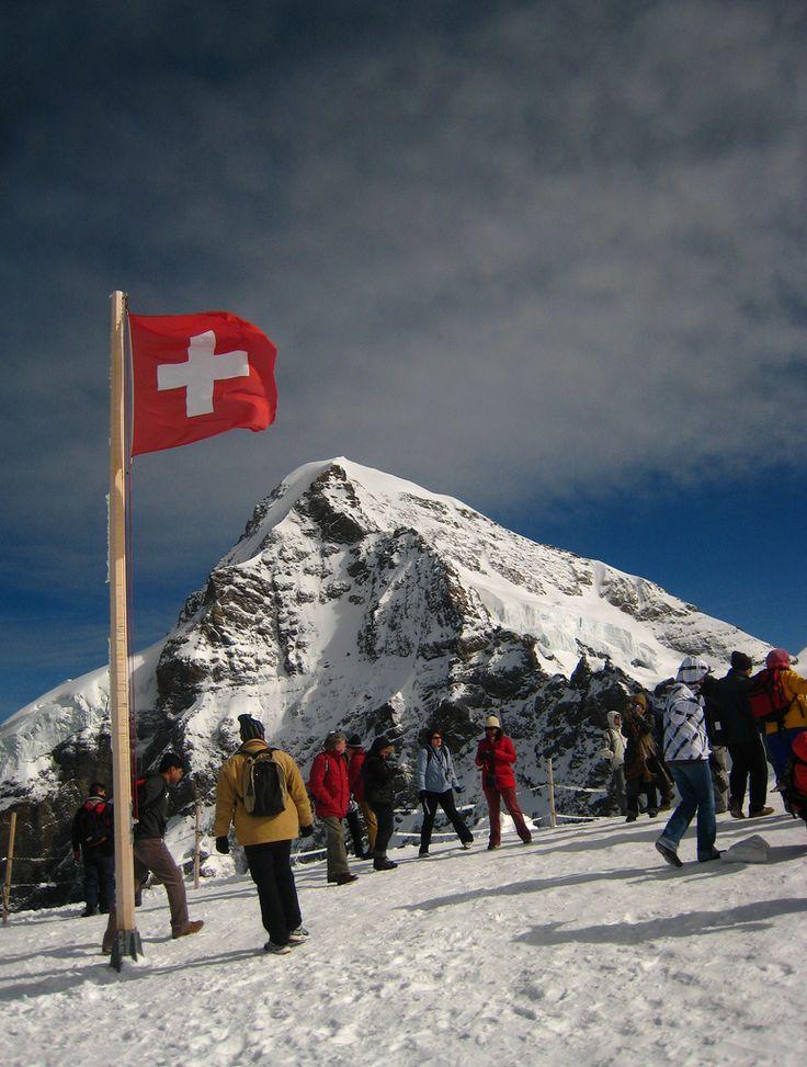 Switzerland - Jungfraujoch - Swiss flag