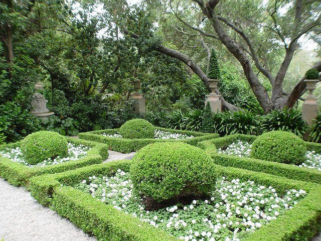 Italian Garden and Blooming Azaleas