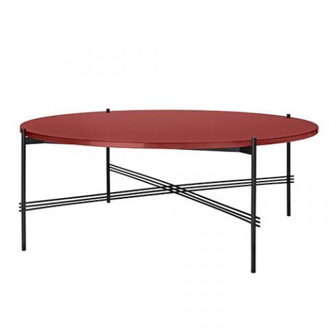 Gubi - Gamfratesi - TS Table - Sort/glass- Sofabord Ø105