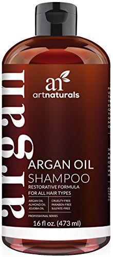 Art Naturals Shampooing à Usage Quotidien à l'Argan 473ml – Sans Sulfates – Idéal dans le Traitement pour Cheveux Abîmés et Secs –…
