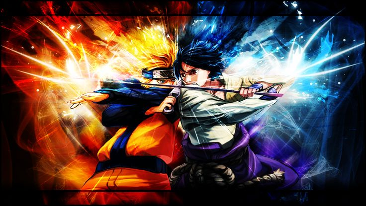 Naruto and Sasuke - Wallpaper by xky03 on DeviantArt