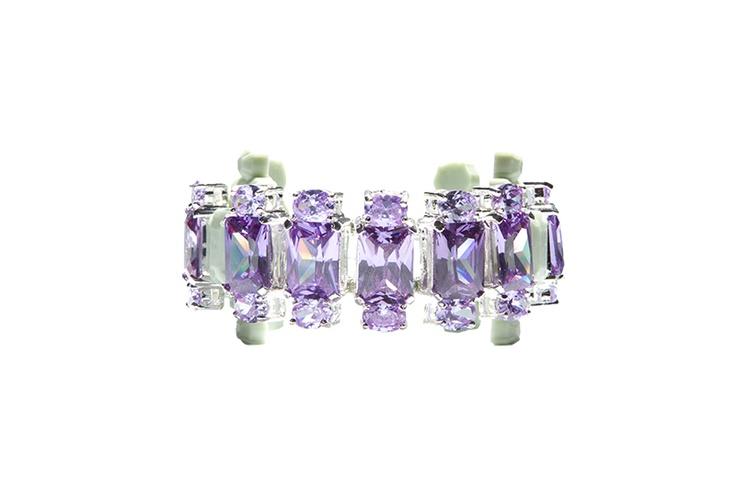 Jewels that Rock - EK Thongprasert Designer Jewellery Fog Green and Lavender Crystal Bracelet