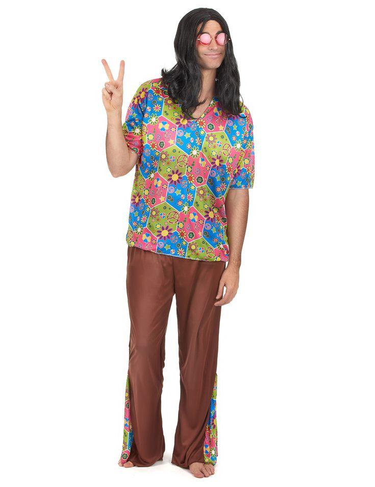 Rainbow-Occhiali da sole stile Hippy con simbolo della pace, motivo: Hippie