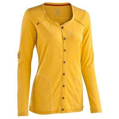 Camisetas, pantalones mujer - Chaqueta Escape 500 amarillo QUECHUA - OCHRE