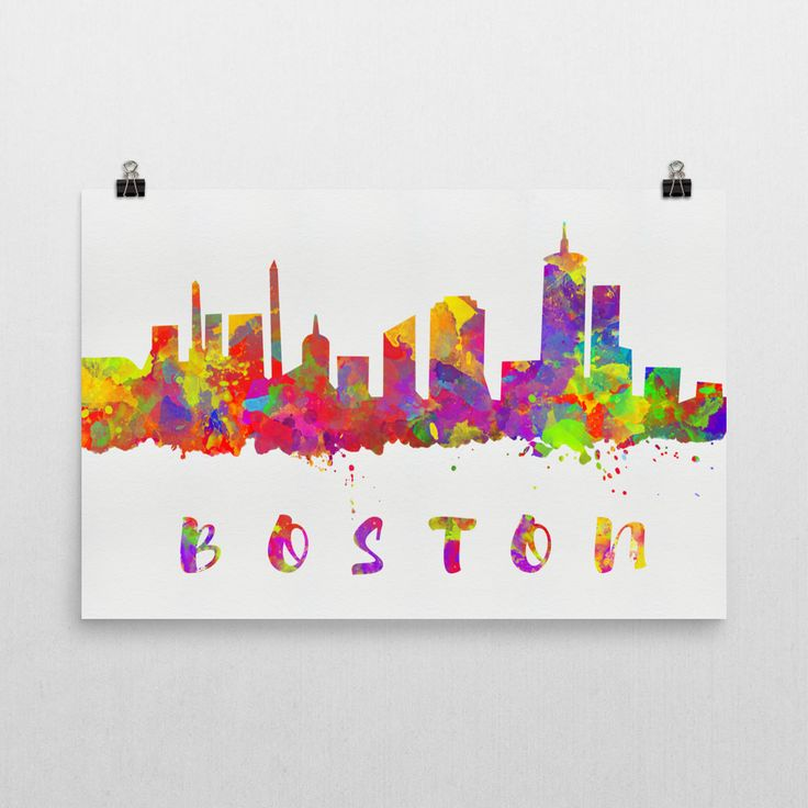 **MADE IN THE USA** You'll love this amazing Boston skyline art! This Boston skyline canvas shows the beautiful watercolor skyline of Boston. This will fit any decor, and also make great gifts. If you