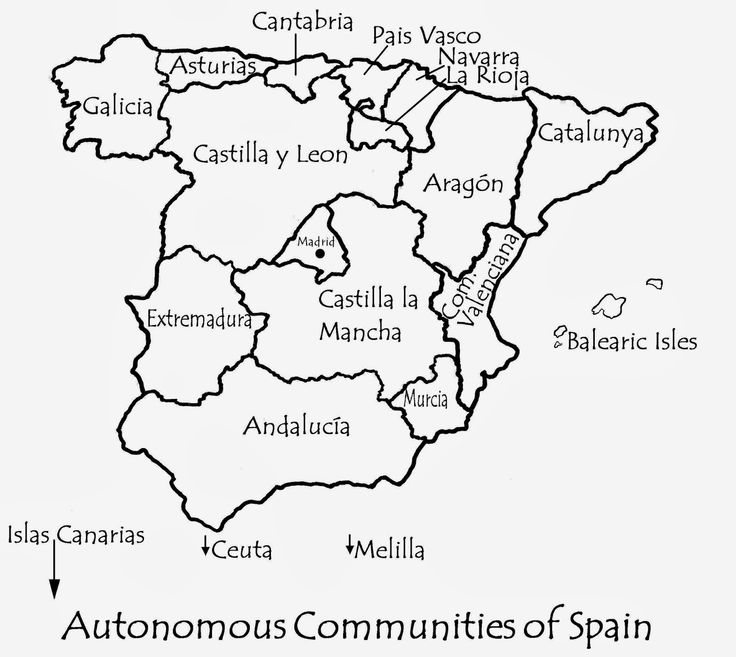 map of the Autonomous Communities of Spain by Robert Bovington from blog post  http://bobbovington.blogspot.com.es/2013/11/autonomous-communities-of-spain.html