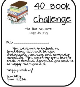 40 Book Challenge - a must for BOY                              …