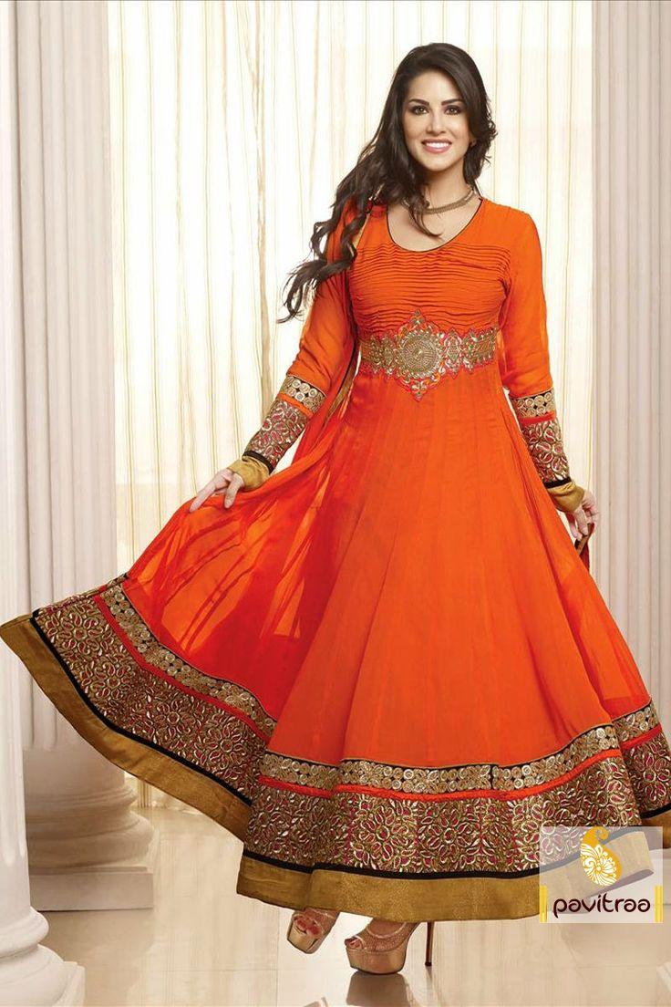 Lush Deep Orange Salwar Suit