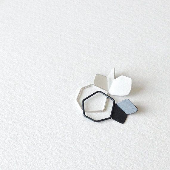 Sterling Silver Butterfly Earring Textured Silver by RawObjekt