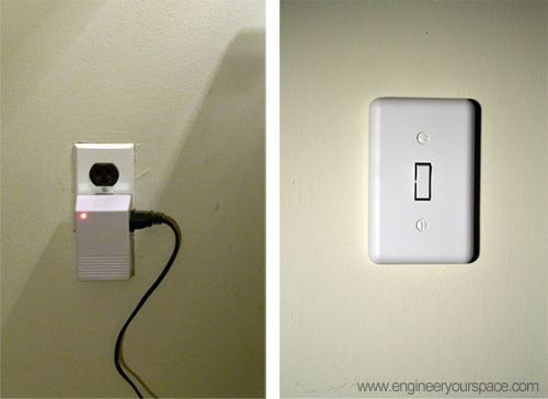 Hanging Lights That Plug Into Wall Outlet : 1000+ images about DIY Electrical Solutions on Pinterest Recessed can lights, Electrical ...