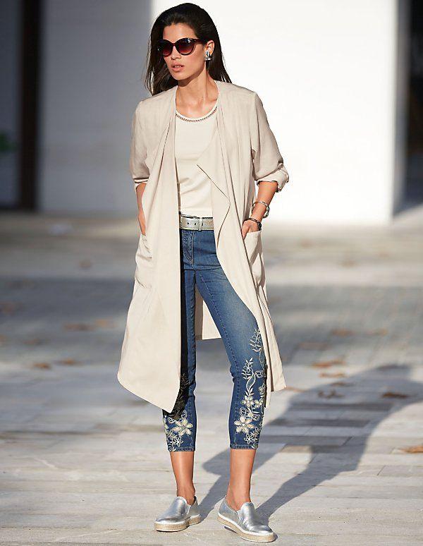 Detailverliebte 7/8 Jeans für den nächsten sonnigen Citywalk.
