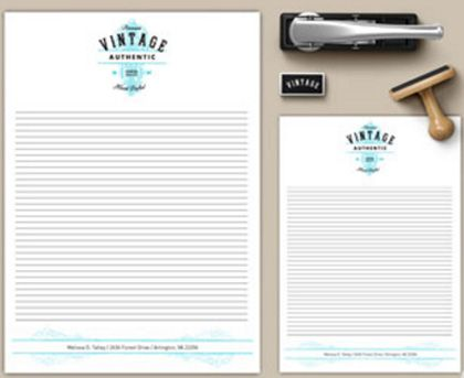 Pack of 50 vintage collections of notepads costs only 71.25 Euros at Pixartprinting.