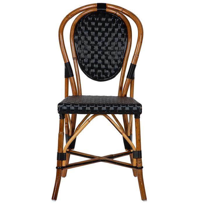 Black Mediterranean Bistro Chair B With Images Bistro Chairs French Bistro Chairs Outdoor Patio Furniture Sets