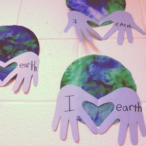 Earth Day Love craft. @Jeni Sullivan