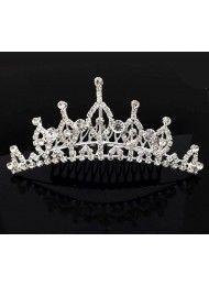 Diamond witte bruids kroon bruids-hoofddeksel in de nieuwe nr. 45 Crystal Crown