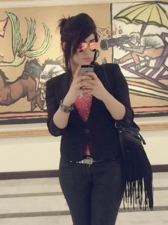 Social media celebrity Qandeel Baloch, who was strangled in what appeared to be an ''honour killing,'' in Multan, Pakistan, is pictured in a selfie on her Facebook page. Qandeel Baloch/Facebook/via Reuters