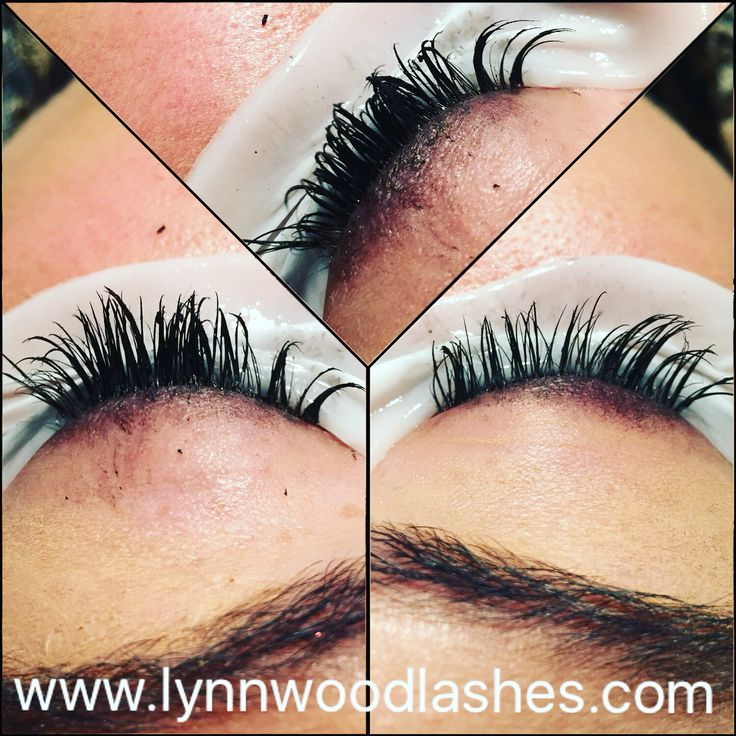 Ladies, this is what happens if you put mascara on your lash extensions. It destroys your lashes!