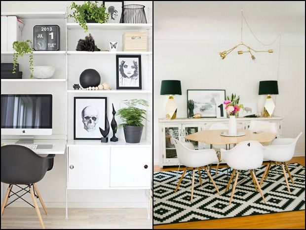 Monochrome houseware knitting patterns and interior design: read more on the LoveKnitting blog!
